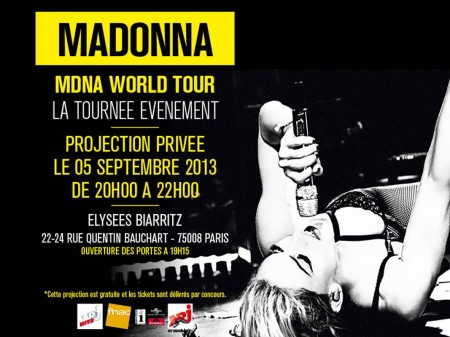 Assistez à la projection privée du MDNA Tour de Madonna à Paris