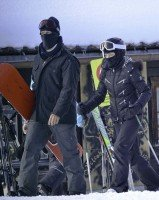 Madonna spotted skiing in Gstaad, Switzerland - January 2014 (12)