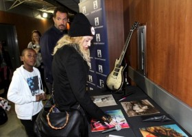 Madonna at the Grammy Charties Signings - 25 January 2014 (1)