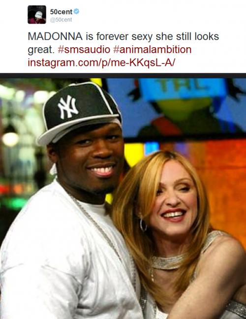 50 Cent: Madonna is forever sexy