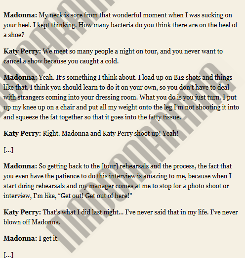 The full Madonna & Katy Perry interview for V Magazine 01