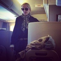 Madonna night flight New York to London (2)