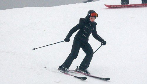 Madonna spotted skiing in Gstaad, Switzerland - 2 January 2015 (2)