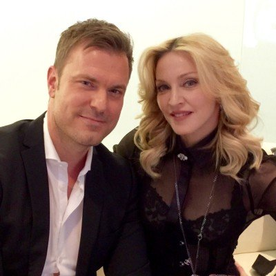 Madonna with Alexander Nebe for Gala