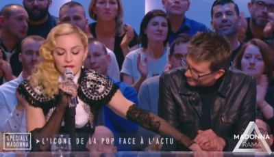 Madonna at Le Grand Journal - 2 March 2015 (3)