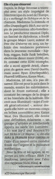 Madonna Rebel Heart Critique - Le Monde 02