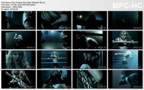 Video - Sticky and Sweet Tour Backdrop - Die Another Day (Monitor B)
