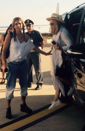 Madonna spotted at Brindisi airport, Italy - July 2016 (3)