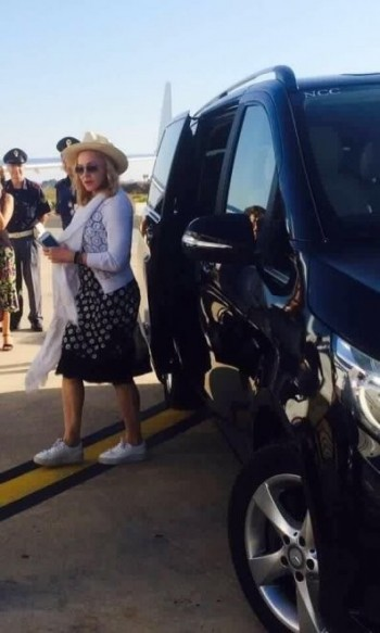 Madonna spotted at Brindisi airport, Italy - July 2016 (4)