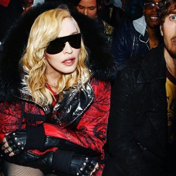 Madonna attends Philipp Plein fashion show, New York - 13 February 2017 (7)