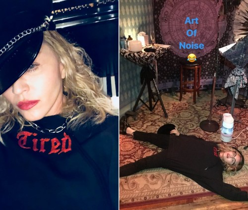Madonna is back in the studio making music - Tired