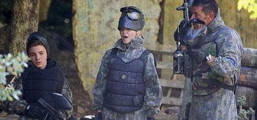 Madonna enjoys a game of paintball in the south of France [11 August 2013 – Pictures]