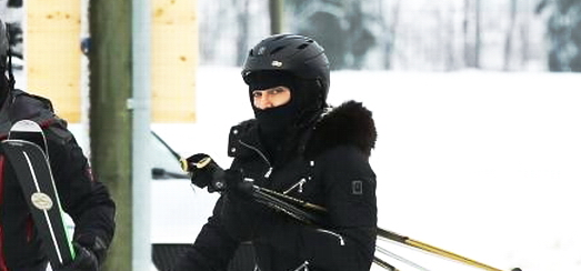 Madonna spotted skiing in Gstaad, Switzerland [December 2013 – January 2014]