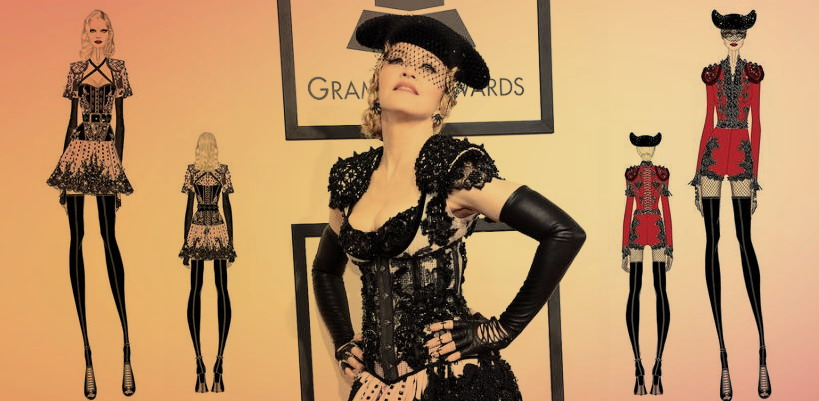 Riccardo Tisci and B. Akerlund talk Madonna fashion at the 2015 Grammy Awards
