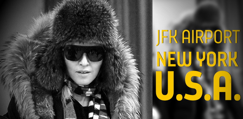 Madonna at JFK Airport, New York [21 February 2015 – Pictures]
