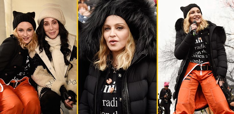 Madonna sings 'Express Yourself' & 'Human Nature' at Women's March on Washington [Pictures & Video]