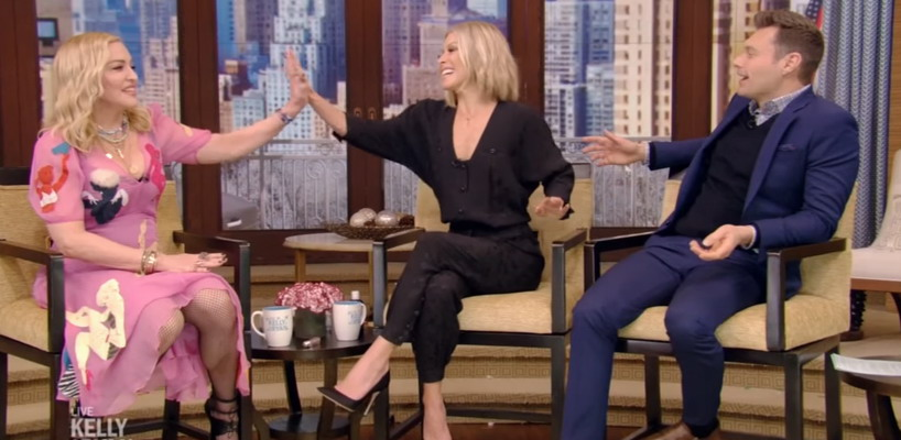 Madonna on Live with Kelly and Ryan [8 December 2017 – Full Video]