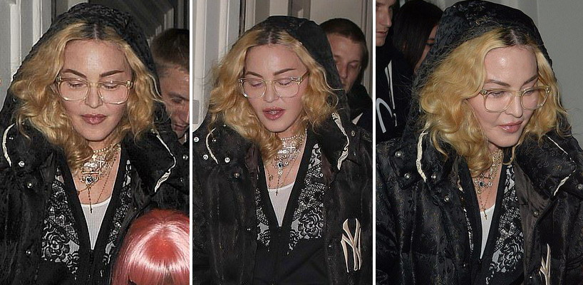 Madonna leaving Halloween party in London [28 October 2018 – Pictures]